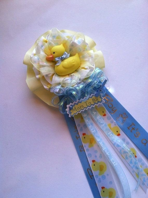 Rubber Ducky Mommy To Be Baby Shower Corsage By