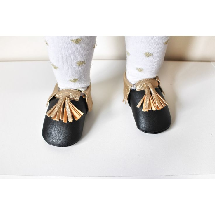 Gold tassel Moccasins baby infant shoes $19.99