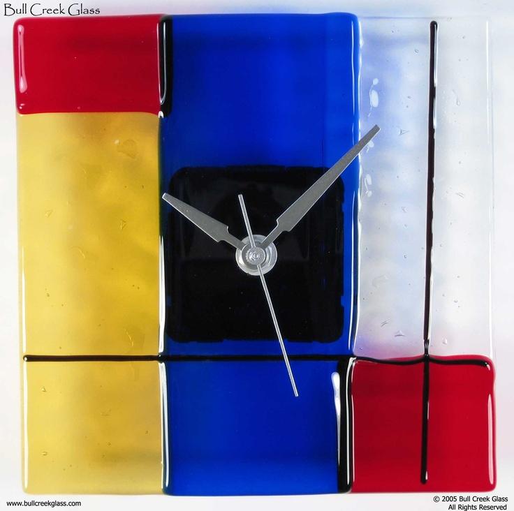 fused glass clocks - Bull Creek Glass