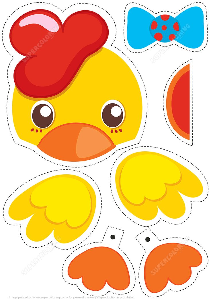 Paper Puppet Little Chick Toy | Super Coloring