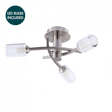 £99 with 3 led light bulbs c01-lc1937 ART DECO INSPIRED CEILING LIGHTS LED BUNDLE