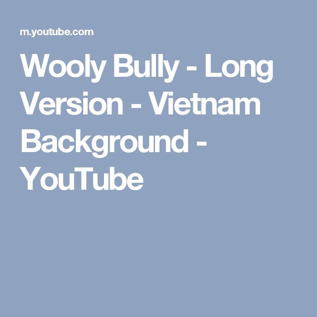 Wooly Bully - Long Version - Vietnam Background - YouTube