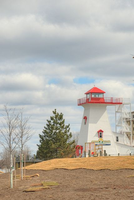 Lighthouse in Fredericton, New Brunswick, Canada