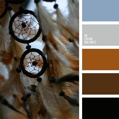 azul aciano pálido, color azul aciano, color marrón oscuro, color ocre, colores para la decoración, gris y celeste pastel, marrón rojizo, marrón y azul claro, marrón y gris, matices fríos y cálidos, paletas de colores para decoración, paletas para un diseñador.