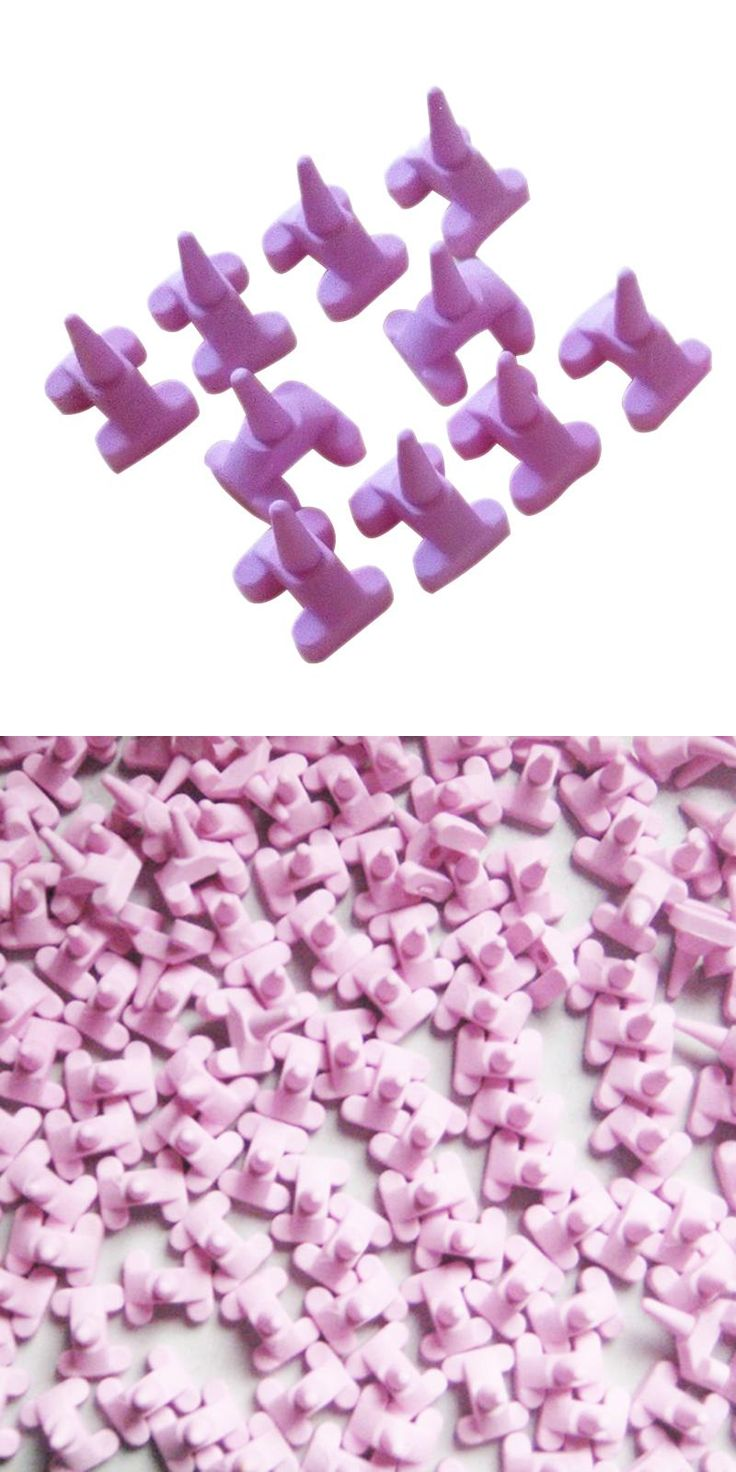 [Visit to Buy] 10pcs Ceramic Firing Pink Pegs Dental Lab for Single Porcelain Crown Oven Tray #Advertisement