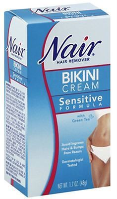 Hair Removal Creams and Sprays: Nair Hair Remover Bikini Cream With Green Tea Sensitive Formula 1.70 Oz (9 Pack) -> BUY IT NOW ONLY: $36.49 on eBay!