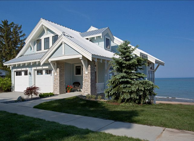 568 best images about craftsman style homes on pinterest for Craftsman beach house