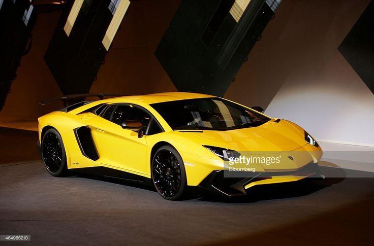 A Lamborghini Aventador SV automobile produced by Automobili Lamborghini SpA a