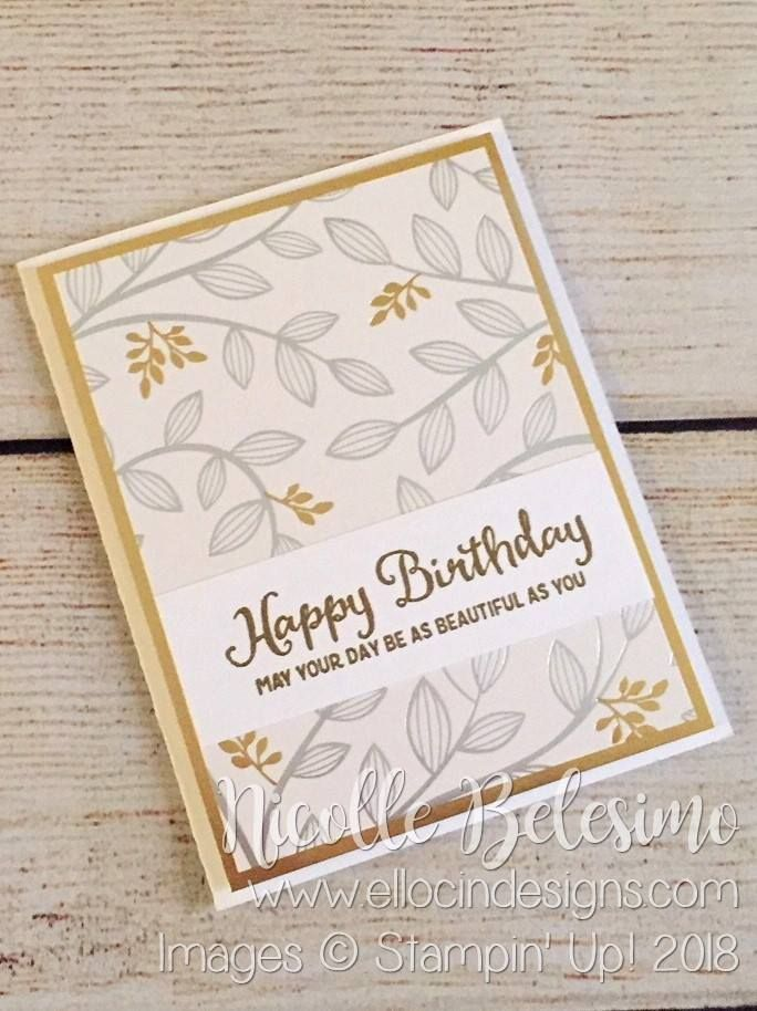 Springtime Foils and Beautiful Day Birthday Card PLUS NEW Sale-a-Bration Offerings – Narcy Dishon