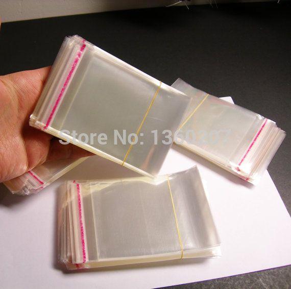 500pcs/lot 6 x 10cm crystal clear plastic bags polypropylene cello resealable bags poly bag