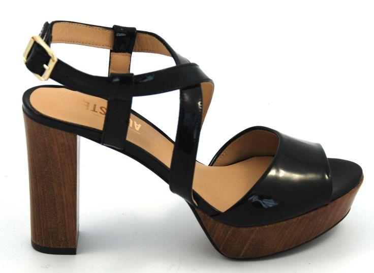 #maisonauguste #sandals #highheels #zwart #lakleer