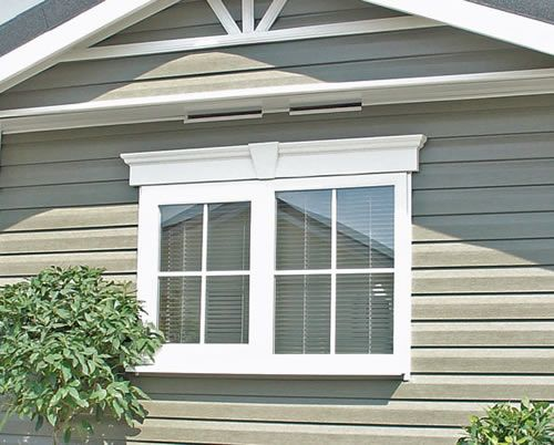 nice wonderful cool amazing creative outdoor window trim with double window concept design made of wood - Exterior Window Design