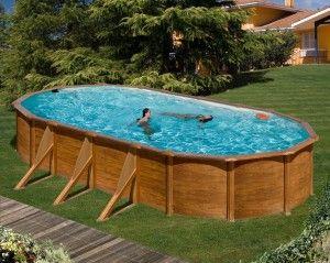 Bazén GRE Pacific, bzaén s dekorem dřeva, pools with wood decor