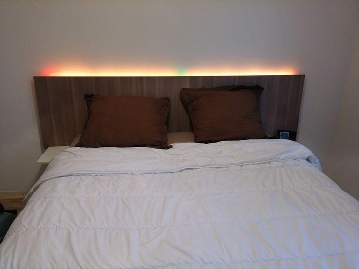 Best 20 headboard lights ideas on pinterest rustic wood headboard rustic wood bed and wooden for London bedroom set with lighted headboard