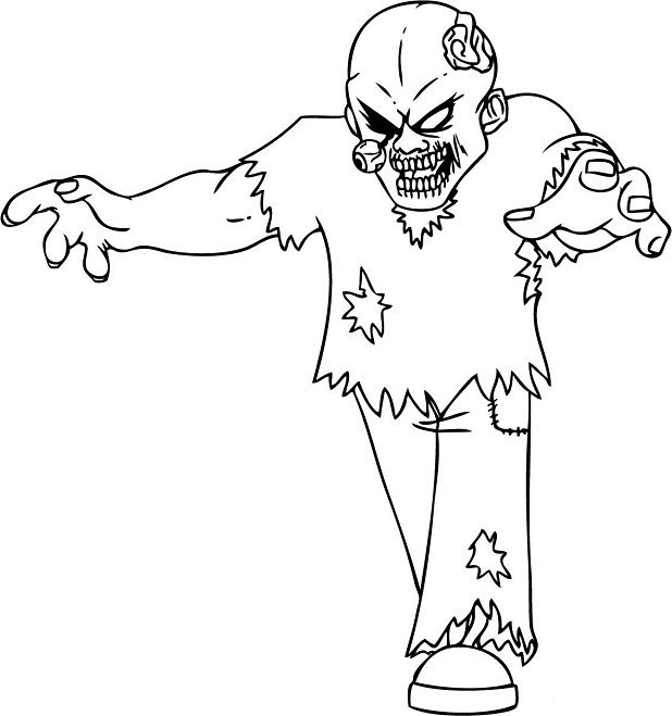 Coloring Pages Zombies Halloween Coloring Sheets Halloween