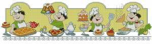 """Время пить чай! - Серия """"Поварята"""" - Кухня - Схемы в XSD - Кладовочка схем - вышивка крестиком"""