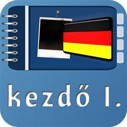 Német kezdő I. online tananyag szójegyzéke alkalmazás