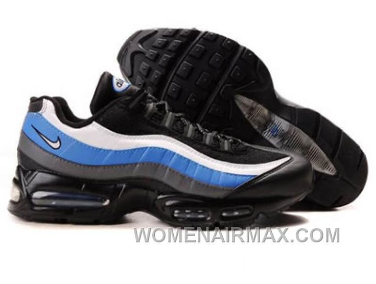 Fast Shipping To Buy Mens Nike Air Max 95 Trainers Blue/White/Black Sale  Online