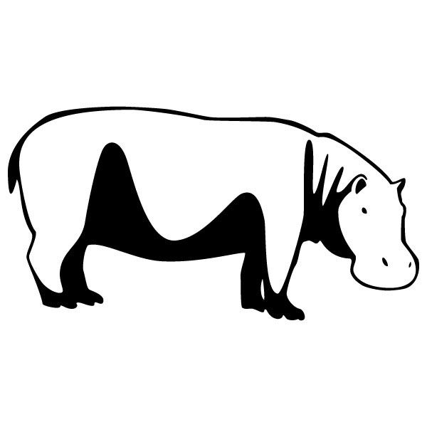 A Hippo Clipart Black And White A Simple Hippo Outline Drawing Hippopotamus On Behance Cartoon Hippo Hippopotamus Hippo Drawing
