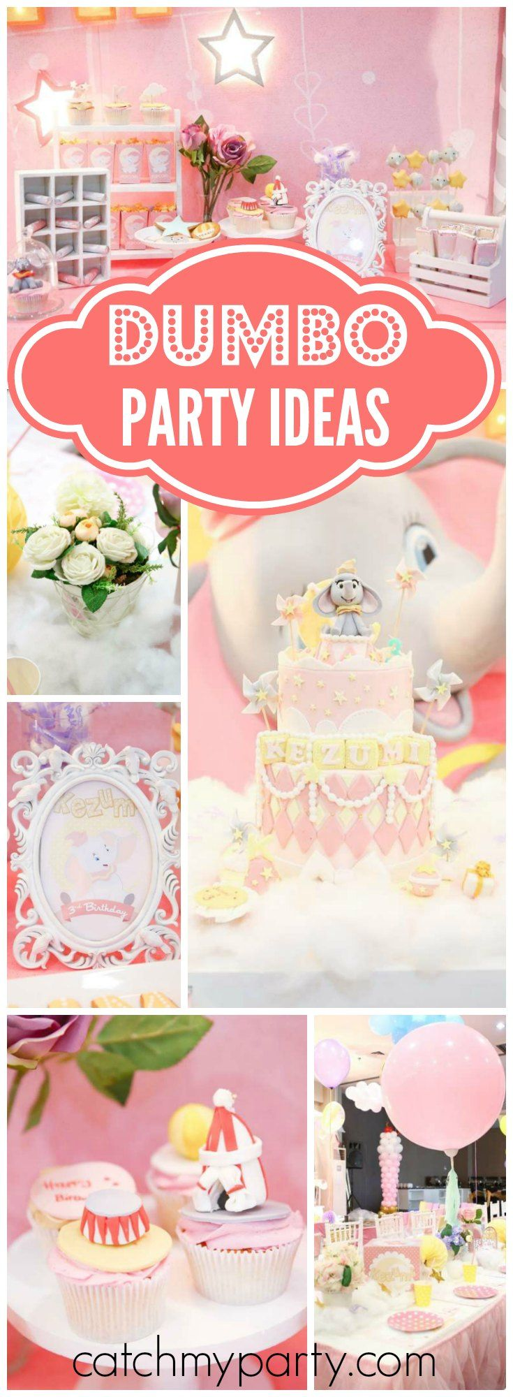 So many amazing details at this pastel Dumbo birthday party! See more party ideas at CatchMyParty.com!