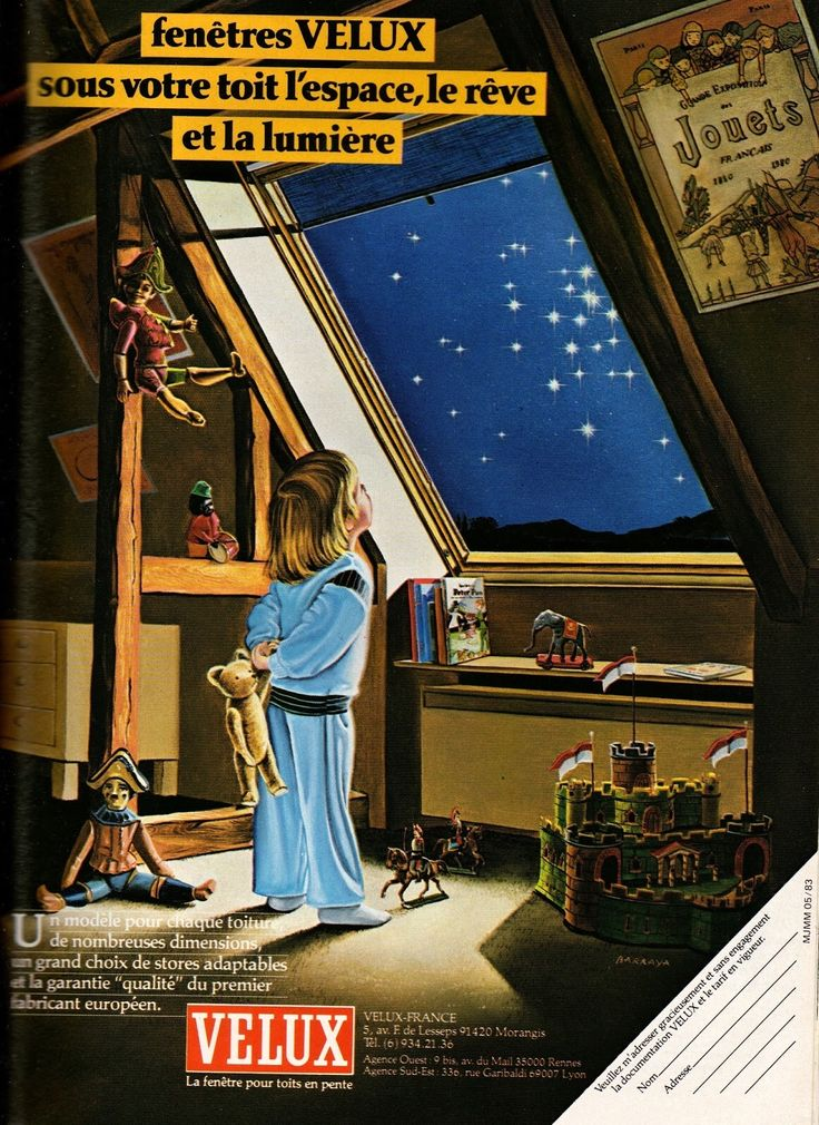 A French vintage VELUX advert.
