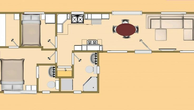 32 best images about molecule homes on pinterest Tiny house floor plan kit