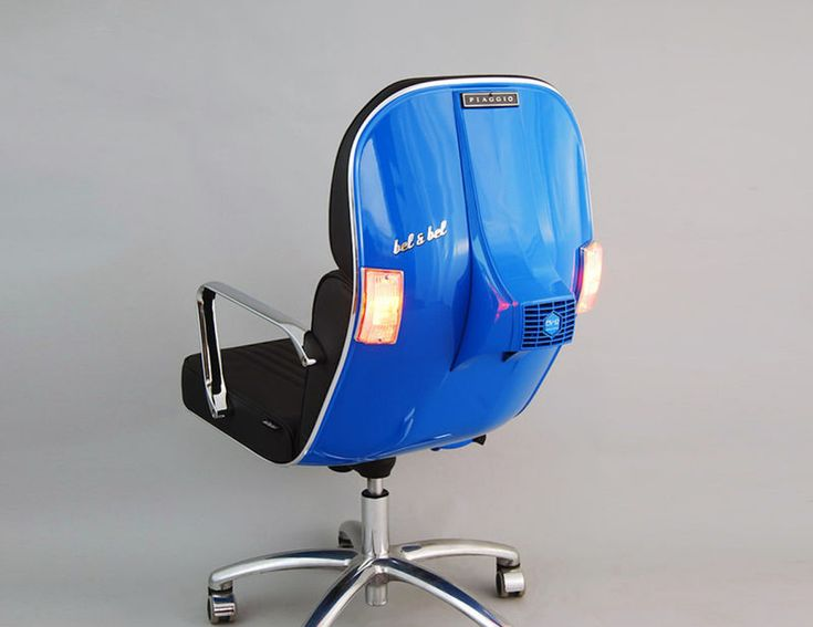 Italian Scooter Seating - The Bel & Bel Vespa BV-12 Custom Chair is Comfortable and Contemporary (GALLERY)