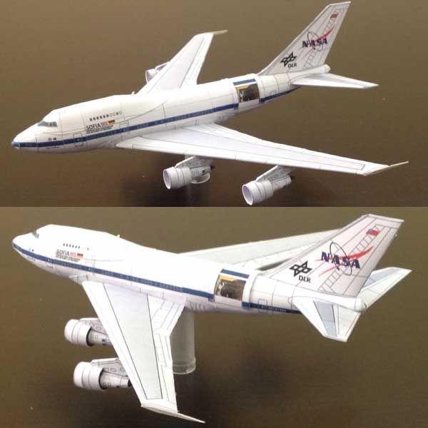 Boeing B-747SP DLR Sofia NASA Airplane Paper Model Free ...