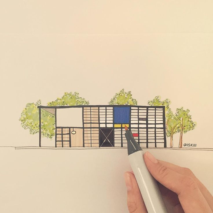 case study house no. 8 ❑ art by @ISKIII