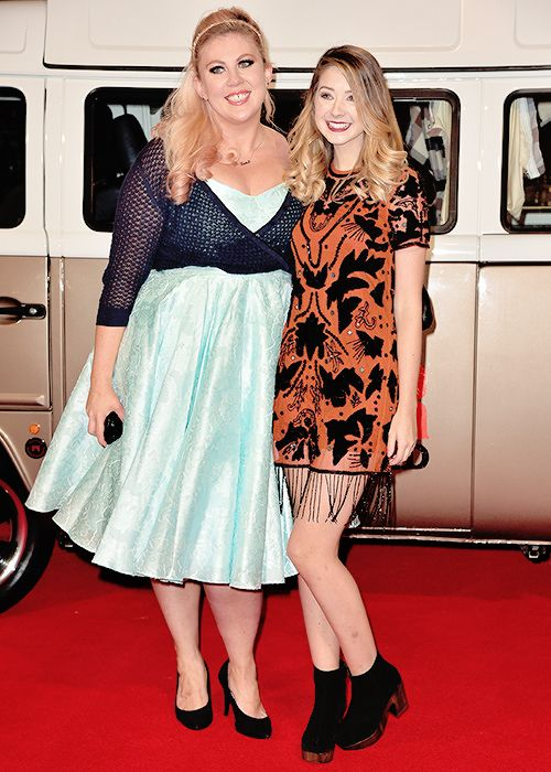 "zoellahq: "" Zoe and Louise at the premiere of Joe & Caspar Hit the Road - 11/22 """