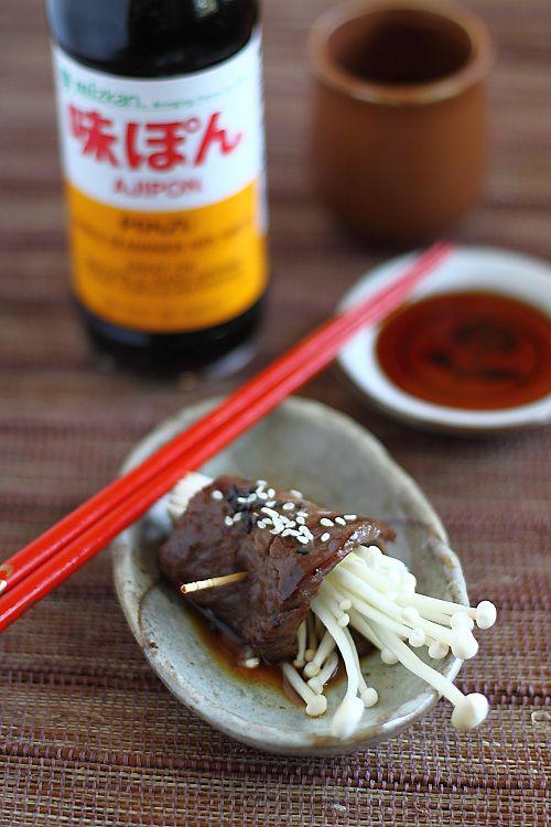Japanese Beef Rolls with Mizkan Ponzu