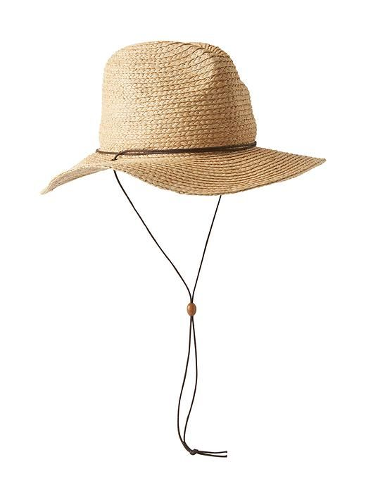 Wherever Straw Hat - Keep the sun off your neck and face with this UPF 50+ wide brim hat that features a chin strap to keep it in place.