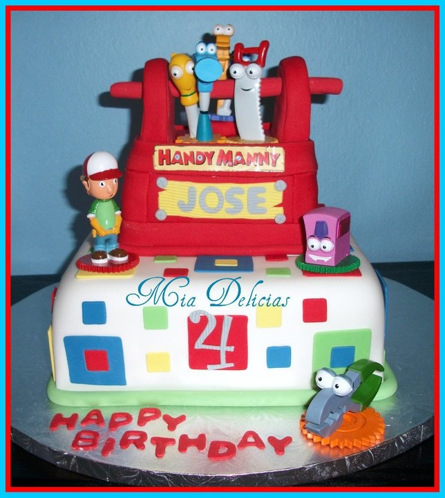 Handy manny cake cake ideas and designs for Handy manny decorations