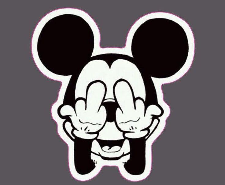Bird flipping Mickey