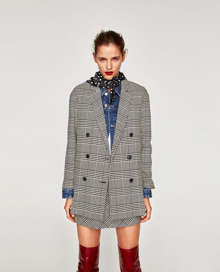 Image 1 de VESTE PIED-DE-POULE de Zara