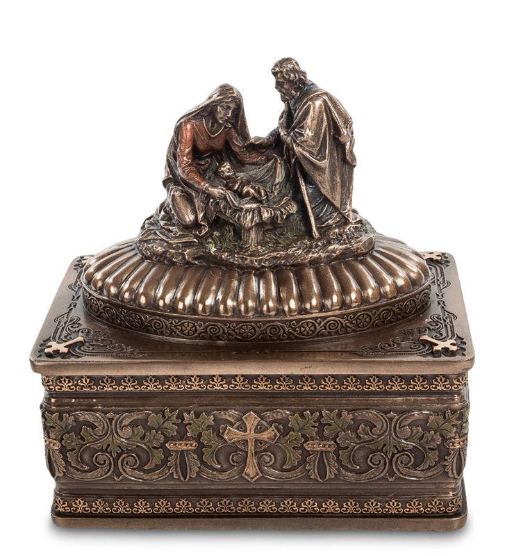"""Шкатулка """"Рождение Христа"""" WS-538   Бренд: Veronese (Китай, о. Тайвань);      Страна производства: Китай;   Материал: полистоун;   Длина: 11,5 см;   Ширина: 8 см;   Высота: 13 см;   Вес: 0,6 кг;"""