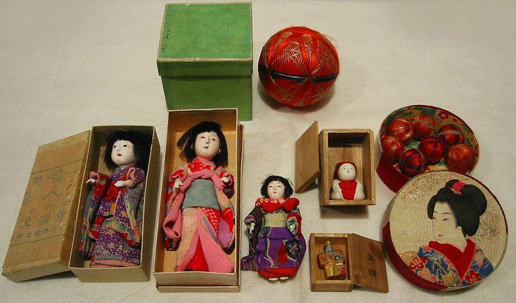 ◆紫野◆ とても小さな市松人形 御所人形 立雛 鞠など - ヤフオク!
