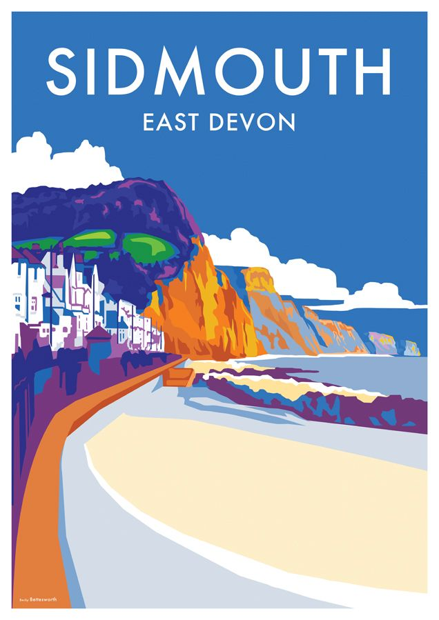@priceninja.com @International Poster Gallery @sidmouthherald @selectsidmouth  Sidmouth vintage style railway poster www.beckybettesworth.co.uk