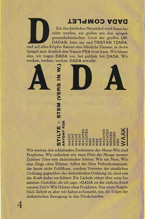 Hannah Höch was the only female in the Berlin Dada circle - image shows Dada Periodicals - Merz - Kurt Schwitters
