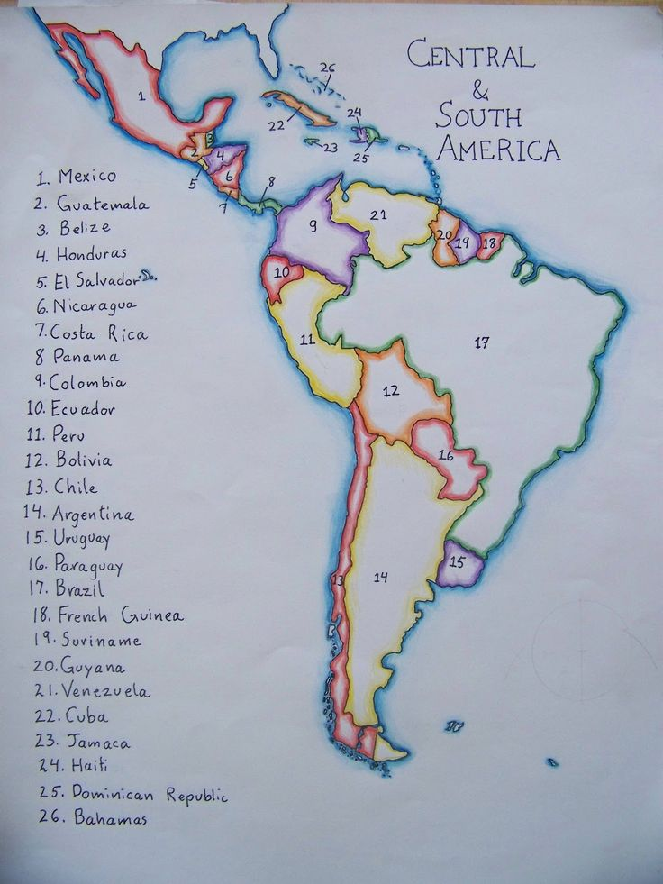 map of south america by a waldorf