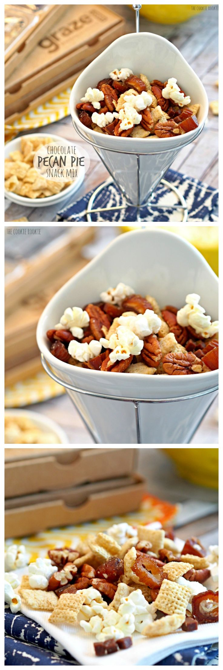 Chocolate Pecan Pie Snack Mix. This stuff is the best!! Perfect healthy snacking!