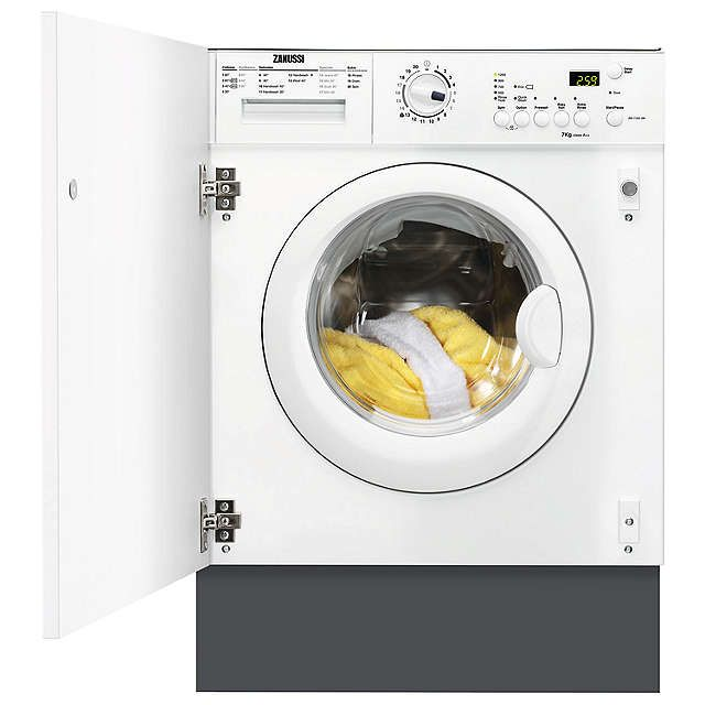 BuyZanussi ZWI71201WA Integrated Washing Machine, 7kg Load, A++ Energy Rating, 1200rpm Spin, White Online at johnlewis.com