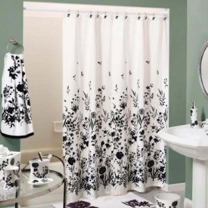 Black And White Shower Curtain Bathroom Accents