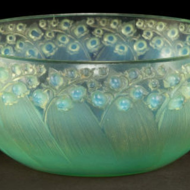 "Lalique Opalescent ""Muguet"" Bowl"