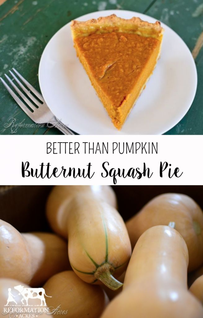 Butternut Squash Pie- SO much better that scratch baked pumpkin pie!