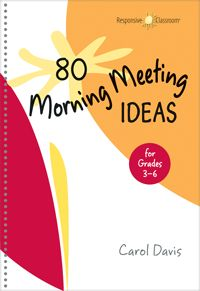 "How many of you hold a ""Morning Meeting"" with your class?  I know many people do Calendar Math, but Morning Meeting is a little more than just that (although it could certainly be a portion of it!).  I recently read a few books about running a Morning Meeting in the classroom from Responsive Classroom and...Read More »"