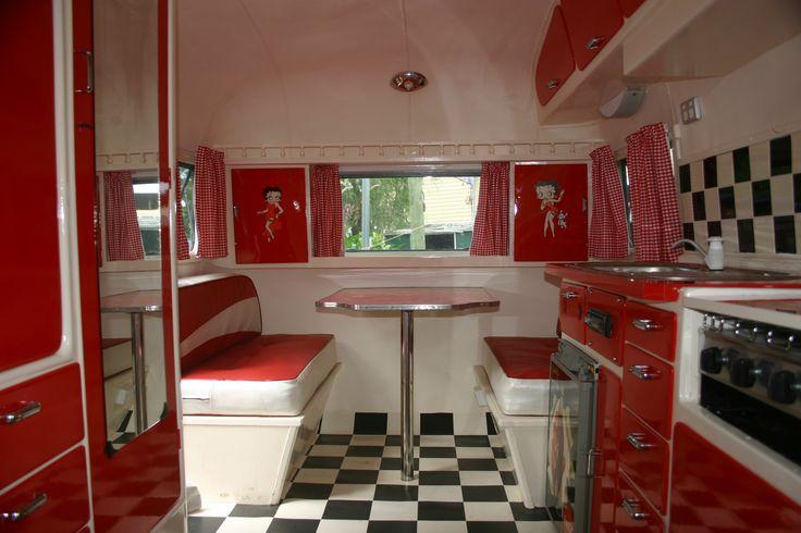 1962 sunliner caravan retro ebay vintage caravan for Interior caravan designs