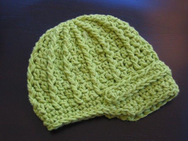 Free Crochet Hat Patterns | Crochet pattern newsboy summer cap (50) 5 sizes from newborn to