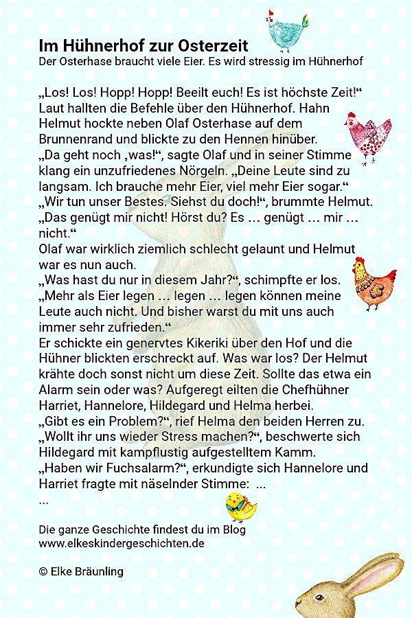 Im Huhnerhof Zur Osterzeit Geschichten Fur Kinder Osterhase Und