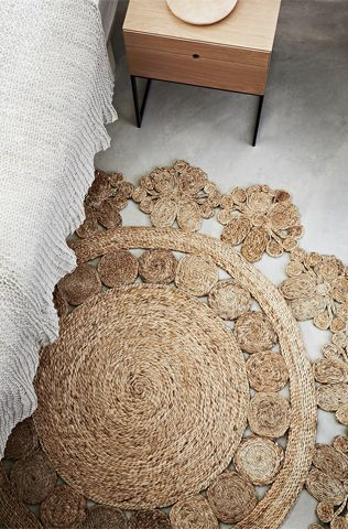 Fair Trade Floral Motif Hemp Rugs by Armadillo & Co.